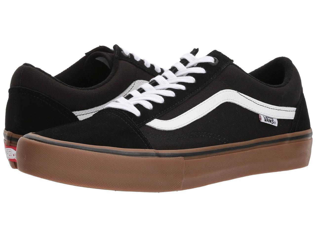 Кроссовки/Кеды (Оригинал) Vans Old Skool Pro Black/White/Medium Gum