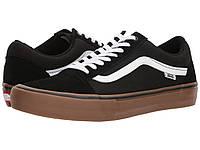 Кроссовки/Кеды (Оригинал) Vans Old Skool Pro Black/White/Medium Gum, фото 1