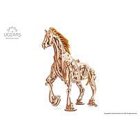 Механический 3d-пазл Конь-Механоид   Ugears, фото 1