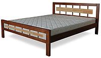 Кровать полуторная с натурального дерева в спальню ТИС МОДЕРН 3 120*190 сосна