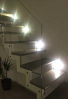 Белая открытая лестница в современном стиле для квартиры, дома, дачи.., фото 1