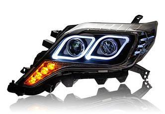 Передние фары Led тюнинг оптика Toyota Land Cruiser Prado 150 (13-17) ксенон
