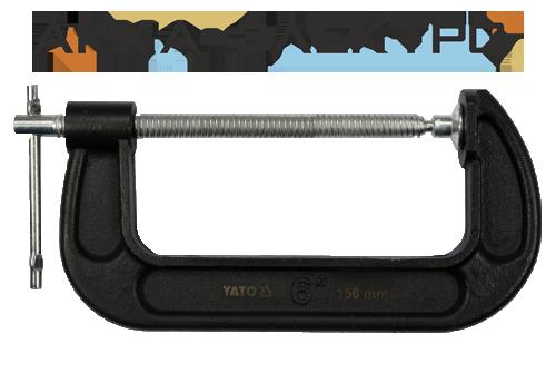 """Струбцина G-подібна YATO 6"""" (150мм)"""