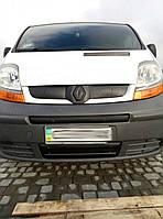 Зимняя средняя накладка на решетку (сверху номера) - Renault Trafic 2001-2015 гг.