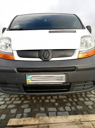 Зимняя средняя накладка на решетку (сверху номера) - Renault Trafic 2001-2015 гг., фото 2