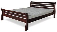 Кровать полуторная с натурального дерева в спальню ТИС РЕТРО 1 120*190 сосна