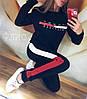 Молодежный теплый спортивный костюм с начесом: штаны и кофта, реплика Tommy Hilfiger, фото 2