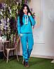 Женский утепленный спортивный костюм с высоким воротником Батал