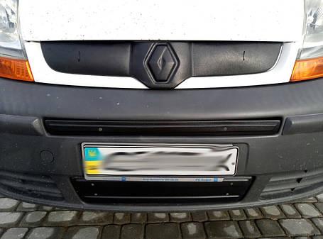 Зимняя нижняя накладка на решетку (под номером) - Renault Trafic 2001-2015 гг., фото 2