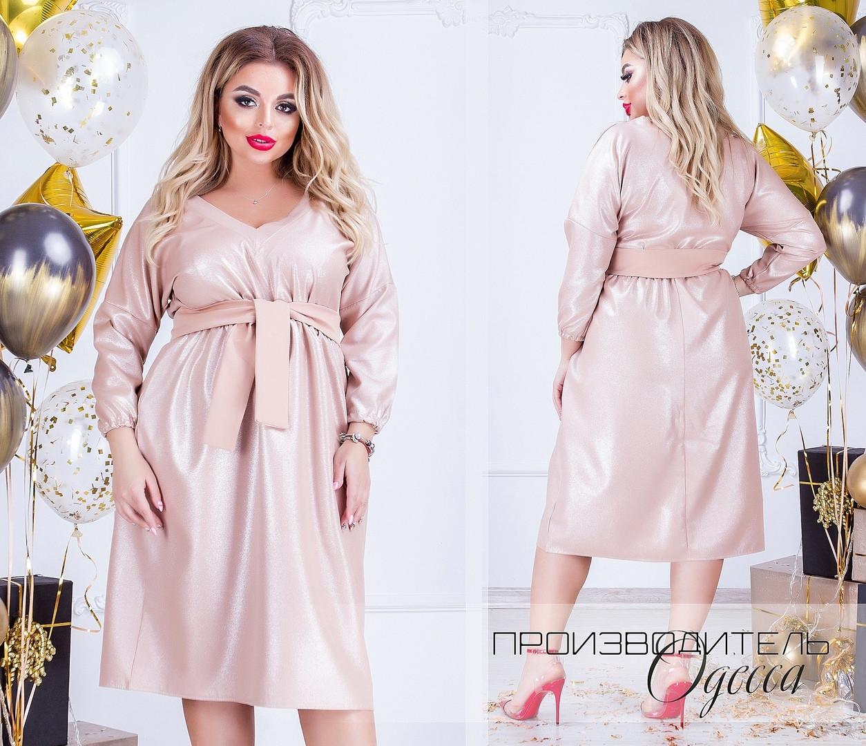 Красивое платье батал Блеск