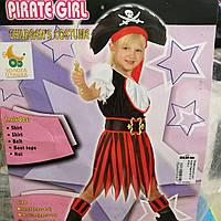 Детский новогодний костюм для девочки Пиратка на 5-10 лет