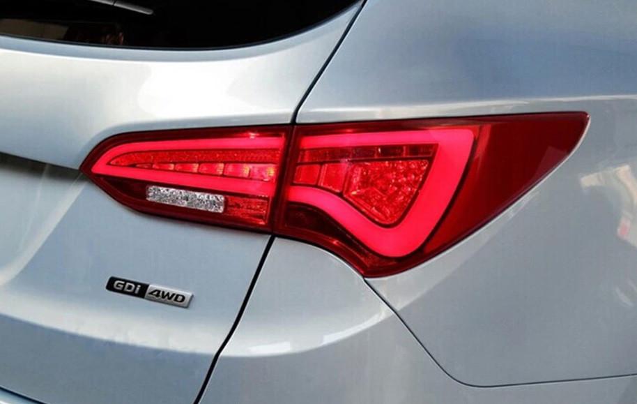Диодные фонари LED тюнинг оптика Hyundai Santa Fe 3 (2012-2018) красные