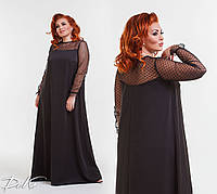 Женское длинное платье с сеткой р151401 (42-46), фото 1