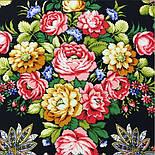 Славянка 1465-18, павлопосадский платок (шаль) из уплотненной шерсти с шелковой вязанной бахромой, фото 5