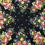 Славянка 1465-18, павлопосадский платок (шаль) из уплотненной шерсти с шелковой вязанной бахромой, фото 6