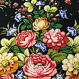 Славянка 1465-18, павлопосадский платок (шаль) из уплотненной шерсти с шелковой вязанной бахромой, фото 8