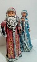 Статуэтки Дед Мороз и Снегурочка 40 см и 38 см