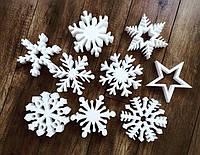 Снежинки из пенопласта, фото 1