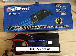 Преобразователь напряжения Nippotec 12/220v 3000W, инвертор автомобильный с зарядкой Нипотек 3000 Ватт