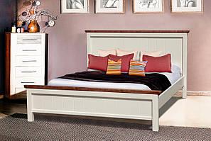 Кровать Беатрис 160-200 см (ваниль + темный орех)