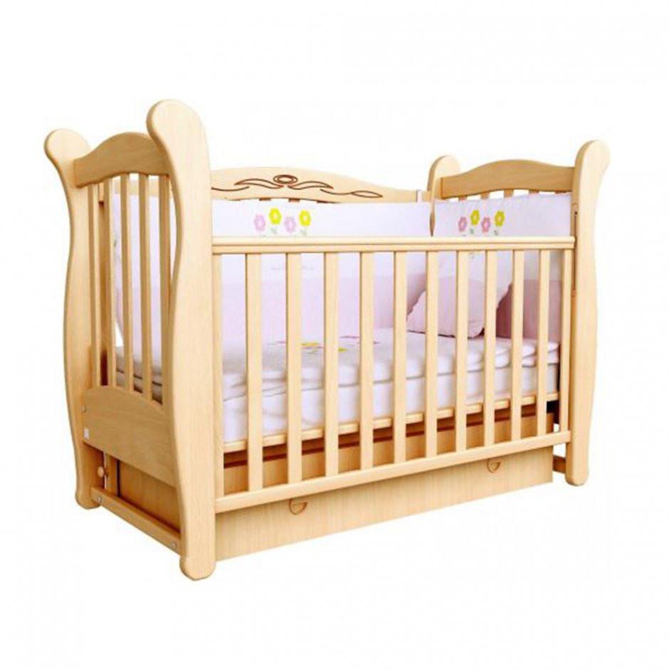Детская кроватка Верес Соня ЛД15 (маятник, ящик) бук