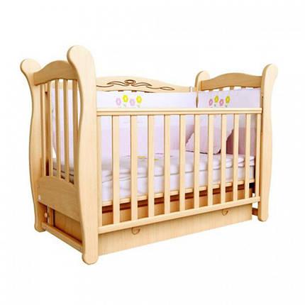 Детская кроватка Верес Соня ЛД15 (маятник, ящик) бук, фото 2