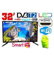 "TV  32"" - Smart TV, Т2, WiFi, USB, HDMI, Full HD"