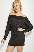 Платье женское со стущенными плечиками 71PD0006-1 (Черный), фото 1