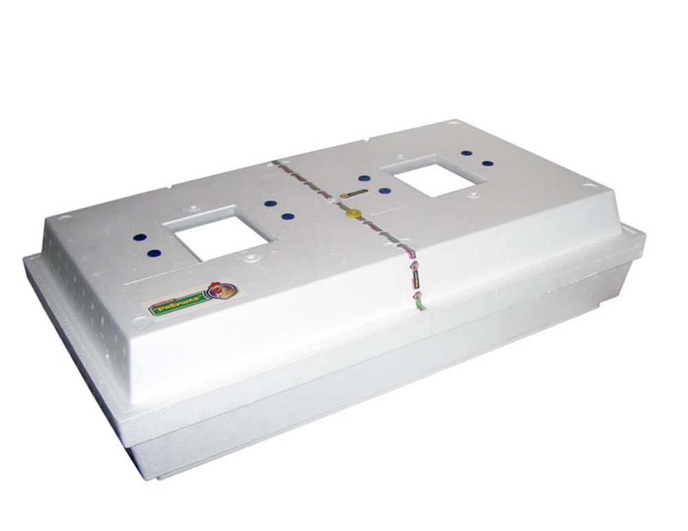 Бытовой инкубатор с механическим устройством переворота яиц Рябушка-2 ИБ-220-Ц для перепелов