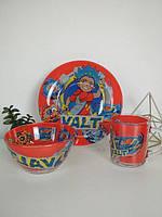 Набор детской посуды стекло 3 предмета  Бейблейд, Beyblade