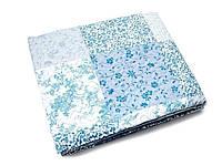 Покрывало полуторное, голубое с белым, 160*220, ЕН-016