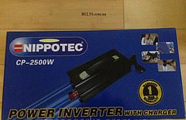 Автомобильный инвертор с зарядкой NIPOTEC CP-2500W, преобразователь напряжения 12/220 2500В Нипотек