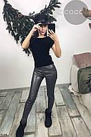 """Лосины женские молодежные эко-кожа, размеры S-L (5цв) Серии """"IRINA"""" купить оптом и в розницу в Одессе 7 км , фото 1"""