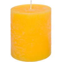 Свеча Цилиндр Рустик желтая 120 мм