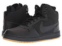 Кроссовки Кеды (Оригинал) Nike Ebernon Mid Winter Black Black Gum Light 6f3c87c57c0