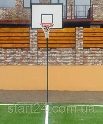 Комплект баскетбольный: стойка, щит, корзина и сетка, фото 2
