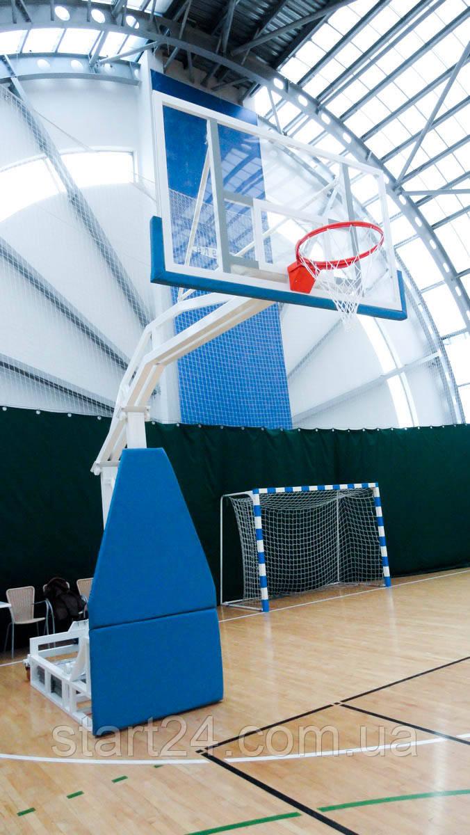 Баскетбольная стойка мобильная складная