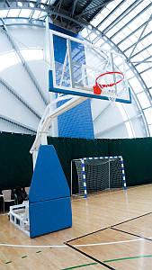 Баскетбольна стійка мобільна складна