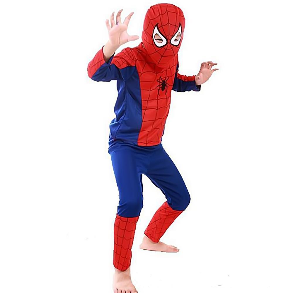 Маскарадный костюм spider man/Спайдермен/Человек-паук синий (размер S)