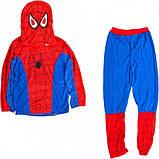 Маскарадный костюм spider man/Спайдермен/Человек-паук синий (размер S), фото 2