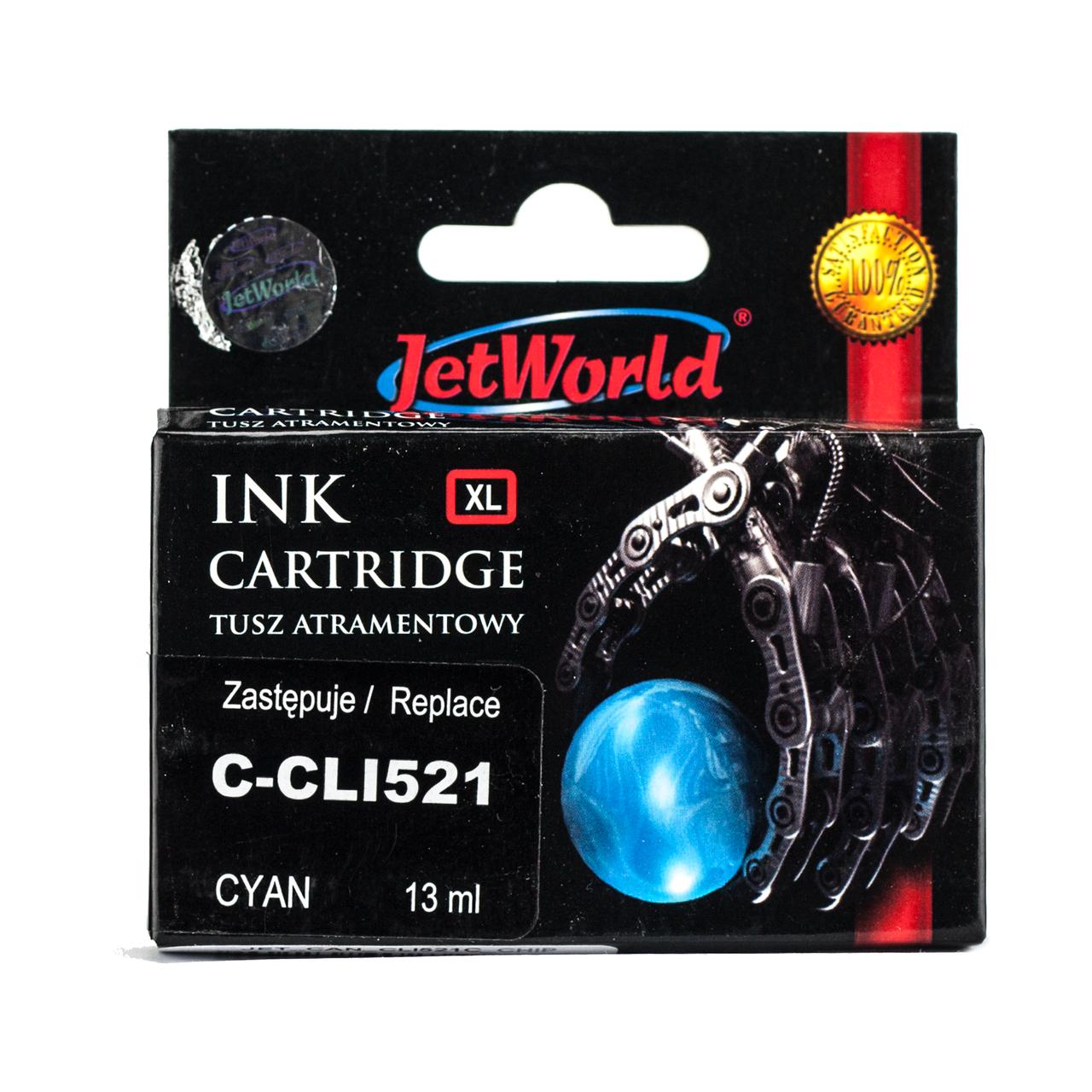 Картридж JetWorld Canon CLI-521C Cyan для MP540/MP620/MX860