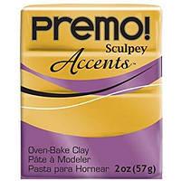 Полимерная глина Sculpey Premo Премо (пр-во США), Светлое Золото 18Карат 5055, 57г, фото 1
