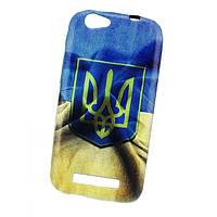 Чехол (бампер) для FlyIQ458 (Украинская символика) (Флай iq 458 ево теч 2, айкью 458 эво теч 2)