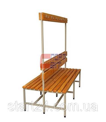 Скамейка двусторонняя 1 м, фото 2