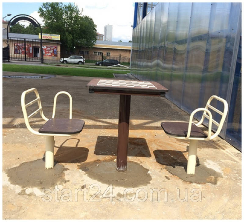 Стол для шахмат уличный с сидениями
