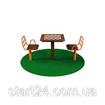 Стол для шахмат уличный с сидениями, фото 2