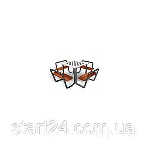 Стол для шахмат уличный с лавочками