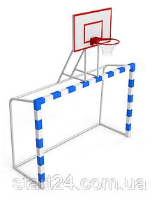 Ворота для футбола 2500х1700 мм с баскетбольным щитом