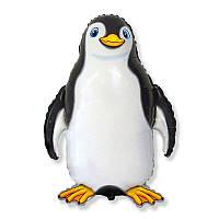 """Фольгированный шар фигура Пингвин черный 32"""" 901745 Flexmetal"""