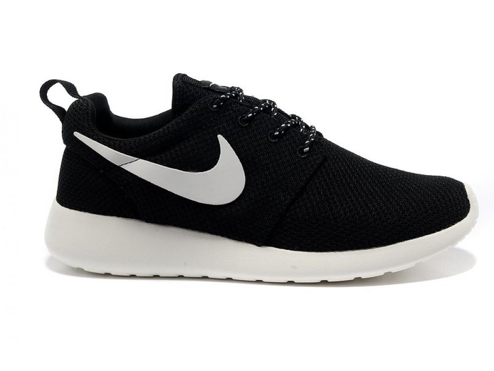 1561553d Кроссовки Nike Roshe Run черные с белым значком на белой подошве -  Stylemall Торговый Центр в